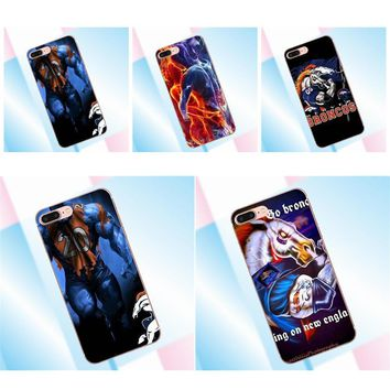 For HTC Desire 530 626 628 630 816 820 One A9 M7 M8 M9 M10 E9 Plus U11 For Moto G G2 G3 TPU Phone Cases Cover Nfl Denver Broncos