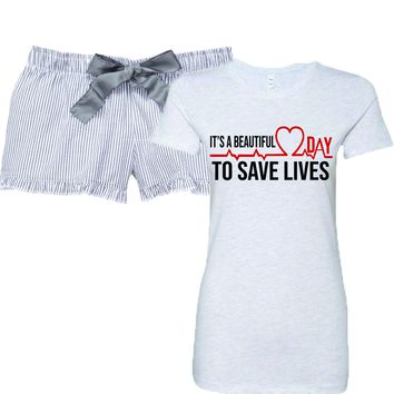 It's A Beautiful Day To Save Lives Women's Pajamas