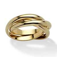 14k Yellow Gold-Plated Rolling Ring