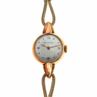 Art Deco 18k Rose Gold Tavannes Ladies Watch