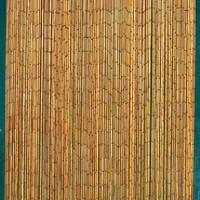 Natural Bamboo Beaded Curtain 125 Strands (+hanging hardware)
