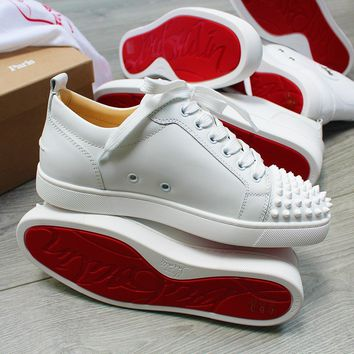 ca spbest Christian Louboutin junior spike white