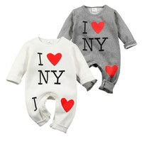 Autumn Winter Romper For Baby Boy Girl Clothes Long Sleeve Cotton Warm Romper Valentine Heart Infant Toddler Clothing