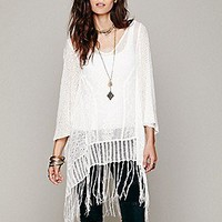 Free People  Embroidered Sheer Poncho at Free People Clothing Boutique
