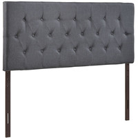 Upholstered Deep Button Tufted, Padded Textured Fabric, and Vinyl Headboards