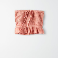 AE Allover Lace Tube Top, Rust