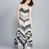 Bright Stripe Hanky Hem Maxi Dress | Wet Seal