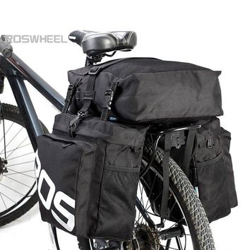 2 Colors 37L 3 in 1 Utility Water Resistant Bicycle Cycling Rear Pannier Bag Durable Bike Bicycle Pannier Bag Cycling Bag