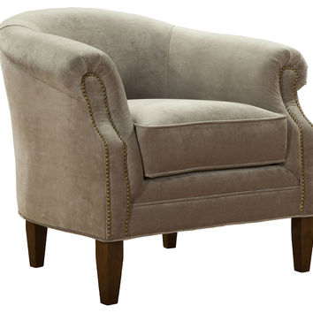 Hyde Velvet Chair, Stone, Club Chairs
