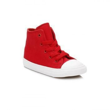converse all star chuck taylor ii infant salsa red white trainers