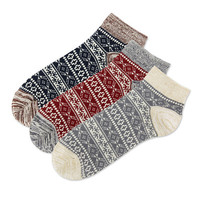 Jacquard Knit Low 3 kinds of sets Socks