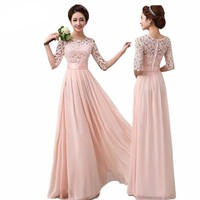 Elegant Chiffon Lace Bridesmaid Dress
