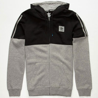 Adidas Tracked Mens Hoodie Black/Grey  In Sizes