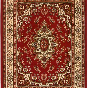 5093 Red Isfahan Oriental Area Rugs