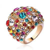 Starry Night Colorized Stones Ring