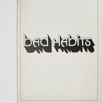 Bad Habits Playbill