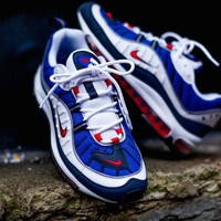 "Nike Air Max 98 Retro Running Shoes ""bLUE WIHTE RED""640744-064"