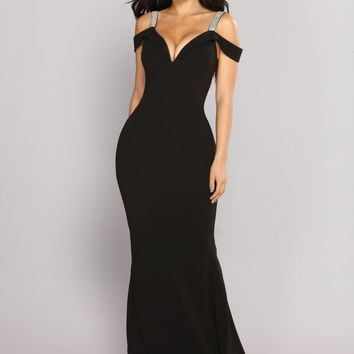 So Gorgeous Rhinestone Dress - Black