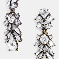 Women's BaubleBar 'Crystal Capote' Drop Earrings - Antique Gold