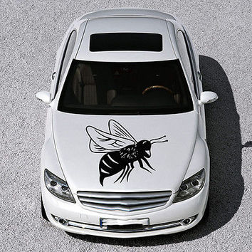CUTE FUNNY BEE INSECT WINGS DESIGN HOOD CAR VINYL STICKER DECALS ART SV1176