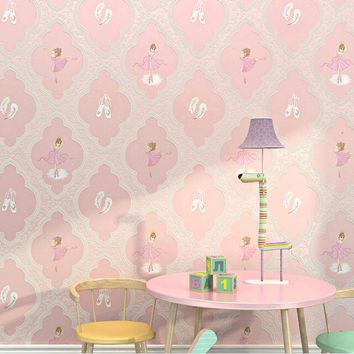 ballet girl Pink wallpaper 3d for bedroom purple wall paper roll for living room wall paper for kids