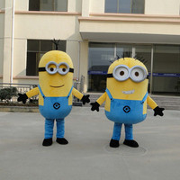 High quality New cartoon Mascot Costumes Minions costume Adult Size Despicable Me Cartoon costume doll props Strolling character
