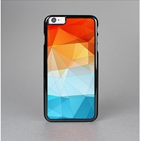 The Vector Abstract Shaped Blue-Orange Overlay Skin-Sert for the Apple iPhone 6 Skin-Sert Case