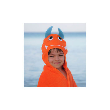 Monster Face Hooded Cotton Turkish Large Towel