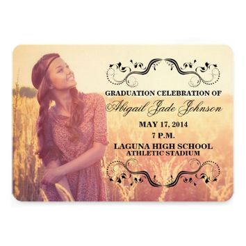 ELEGANT GRADUATION PHOTO ANNOUNCEMENT