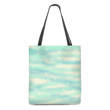 Sea and Sand with Bubbles Tote Bag
