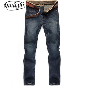 sunlight 2017 New Jeans Men Fashion Summer Style Brand Clothing Slim Fit Denim blue Jeans Casual Trousers Male Pants