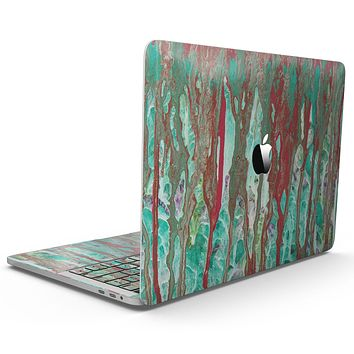 Abstract Wet Paint Mint Rustic - MacBook Pro with Touch Bar Skin Kit