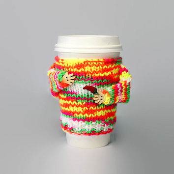 Cinco de Mayo cup cozy. Chili pepper. Fiesta decoration. Travel mug sweater. Funny coffee. Tea cup sleeve Hot chocolate Starbucks cup sleeve