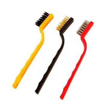 MDIGYN5 2016 3pcs Small Brush Set Cleaning Brushes For Car Kitchen Gas Stove