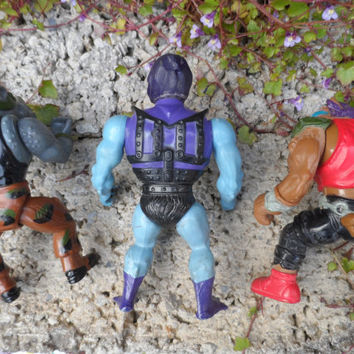 Vintage toy - action figure job lot - he-man skeletor - teenage mutant ninja turtles - 1980's vintage toys - plastic vintage figure