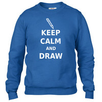 Keep Calm and Draw Crewneck sweatshirt