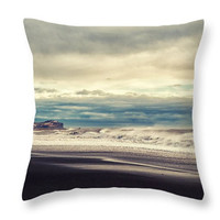 Ocean Waves Photo Art Home Decor Accent Throw Pillow. Ocean Waves Blue Seat Cushion. Nature Abstract Pillow Cover. Abstract Cushion