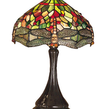 18 Inch H Tiffany Hanginghead Dragonfly Accent Lamp