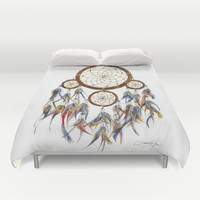 Dream Catcher Duvet Cover by Sarah Jane Bradley