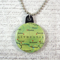 Lithuania Map Necklace