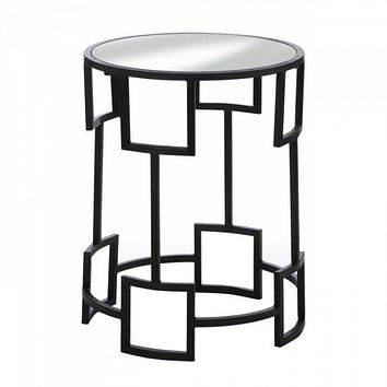 Modern Round Glass Top Side Table