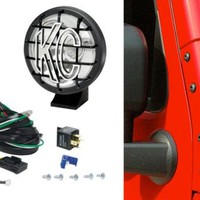 "KC HiLites 5"" Apollo Pro Long Range Lights with Windshield Mount Brackets 