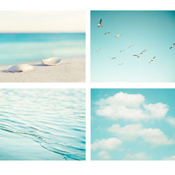 Beach Photography Set  beach photo wall art by CarolynCochrane