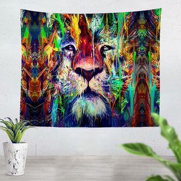 Lion Lines Tapestry