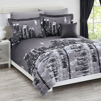 New York City 4-Pc. Reversible Comforter Set Collection | Prints | Brylanehome