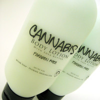 Cannabis Body Lotion . With Shea Butter . Paraben Free . 4 oz