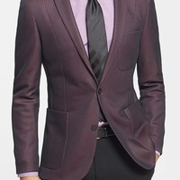 Men's Bogosse 'Ito 82' Shaped Fit Mesh Woven Blazer