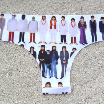 The Beatles Drawings Brazilian Cut Low-Rise Panties
