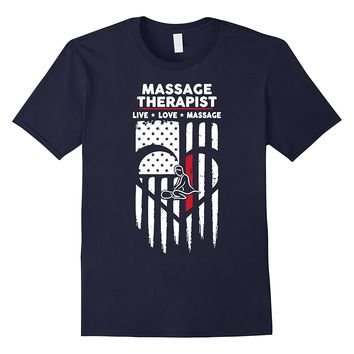 Massage Therapist USA Flag T-Shirt