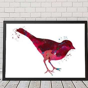 Bird No. 1 Watercolour Print, Bird Illustration, Bird Print, Wall Decor